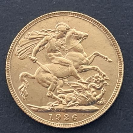 1926 Gold Sovereign Melbourne Rare